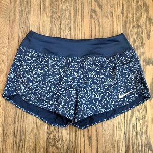 Nike Dri-Fit Blue Pixel Pattern Running Shorts | S